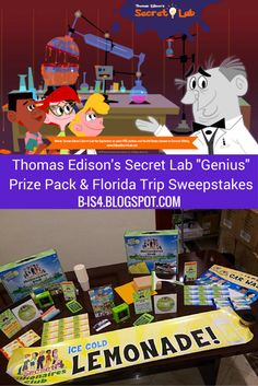 "Great giveaway from the fun and educational TV show for kids! ""Thomas Edison's Secret Lab"" Prize Pack & Florida Trip Sweepstakes"