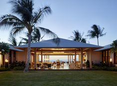 Big Island Retreat — Strata Landscape Architecture Tropical Landscaping, Modern Landscaping, Landscape Architecture, Architecture Design, Green Marble, Big Island, Bungalow, Lush, Pergola