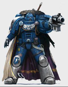 Storm Warden for Fantasy Flight Games Warhammer 40k Art, Warhammer Fantasy, Warhammer Figures, Space Marine, Marine Colors, Deathwatch, Space Wolves, Marvel, Sci Fi Fantasy