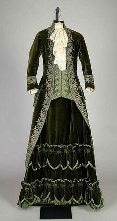 Pingat, Promenade Dress, 1888; Metropolitan Museum of Art
