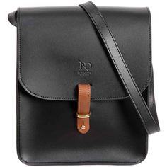 N'Damus London - Elizabeth Black Leather Crossbody Satchel Bag ($485) ❤ liked on Polyvore featuring bags, handbags, shoulder bags, leather crossbody, leather crossbody satchel, cross-body handbag, crossbody shoulder bag and leather satchel purse