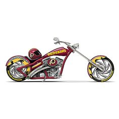 Chicago Bears Motorcycle Figurine Collection Limited editions, officially-licensed by the NFL. First-ever Chicago Bears chopper figurine collection with custom paint schemes, team logos and more. Measure approximately L Redskins Football, Redskins Fans, Bears Football, Bears Packers, Football Gear, Football Baby, Custom Choppers, Custom Motorcycles, Custom Bikes
