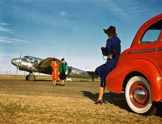 Beautiful Promotional Photo Shoot of Lockheed Electra Aircrafts for Delta Air Lines in 1940