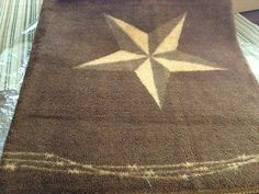 Western Decor Laredo Star Bath Or Kitchen Rug Ebay