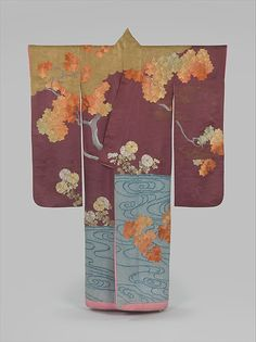 Outer Robe (Uchikake) with Maple Tree and River (first half of the 20th century) | The Metropolitan Museum of Art, NYC