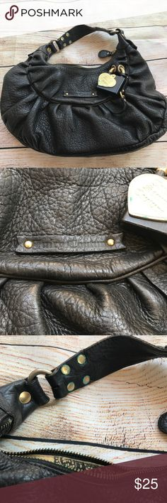 Juicy Couture Black Leather Handbag Juicy Couture Black Leather Handbag!  Heavily used.  Comes with duster! Juicy Couture Bags
