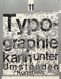 Typography - Cover from 1973 issue 11  Cover Design: Wolfgang Weingart  Typefaces: Akzidenz Grotesk, Univers