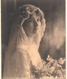 Bridal portrait, c. 1910s.