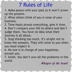 7 Rules of life..
