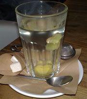 ingefær te/iste  til tør hoste