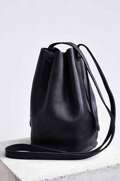 MINIMAL + CLASSIC: BAGGU Leather Drawstring Bucket Bag - Urban Outfitters