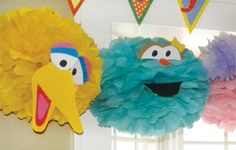 DIY Sesame Street Carnival Party Games // Hostess with the Mostess®