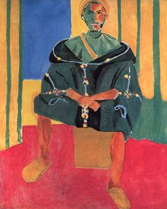 Seated Riffian by Henri Matisse, 1916. Oil on canvas, 6 x 5' | Read about this huge painting here: http://www.philamuseum.org/booklets/9_56_118_1.html?page=3