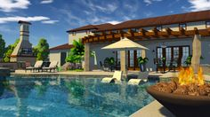 Showcase richly detailed 3D hardscapes and landscapes with 3D Hardscape and Landscape Design Software