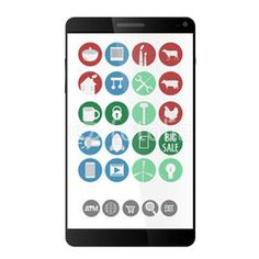 Online Shop Phone #buttons #designs #internet, #tools #icon #technology #image #decoration #market #buy #sales #people #mall #concept #online #commerce #graphic #vector