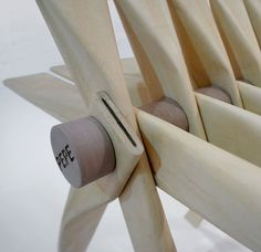 Pepe chair by Helene Steiner made from rolled-up beech veneer