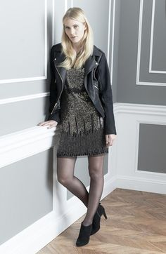 GUESS Jacket & Adrianna Papell Dress  available at #Nordstrom