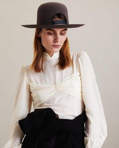 If theres a single accessory that gets me most excited about fall, its hats. time honored millinery techniques to create the most unique colors, shapes and proportions. I love the designers' cheeky