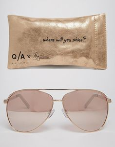 85f772b932 Quay Australia X Shay Vivienne Mirror Sunglasses in Gold Bolsas