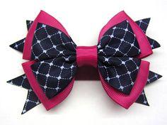 Burgundy bow Over the top bow School uniform Girls school