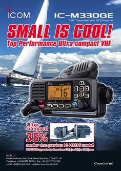 NEW With BUILT IN GPS ICOM M 330GE Fixed Marine VHF DSC Radio UK Model 2 Way