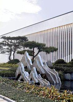 Landscape Elements, Landscape Walls, Landscape Lighting, Landscape Architecture, Landscape Design, Zen Garden Design, Japanese Garden Design, Chinese Garden, Garden Art