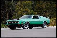 F263 1971 Ford Mustang Mach 1 Fastback 429/370 HP, Automatic Photo 1