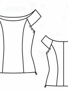 Girl Dress Patterns, Skirt Patterns Sewing, Doll Clothes Patterns, Clothing Patterns, Blouse Pattern Free, Blouse Patterns, Coat Patterns, Sewing Clothes Women, Diy Clothes