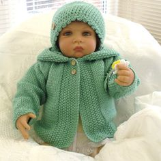 Baby hooded jacket/sweater/coat/hoodieMatching hat  by JaminaRose, £22.00