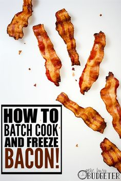 How to batch cook and freeze bacon... It's so easy! We've ALWAYS have bacon in the freezer ready to roll. It adds to so many amazing dishes.