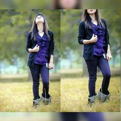 Face Pictures, Hidden Face, Only Girl, Fall Looks, New Pins, Fashion Shoot, Jeans Style, Cute Babies, Attitude