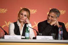 """George Clooney Photos - Julia Roberts and George Clooney attend the """"Money Monster"""" press conference during the 69th annual Cannes Film Festival at the Palais des Festivals on May 12, 2016 in Cannes, France. - 'Money Monster' Press Conference - The 69th Annual Cannes Film Festival"""