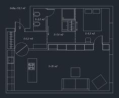 Мужская студия 59 м² в Санкт-Петербурге – Красивые квартиры
