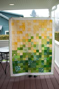 I need to make another one of these color gradient quilts, I loved it!