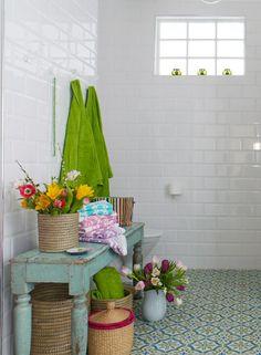 EN MI ESPACIO VITAL: Muebles Recuperados y Decoración Vintage: Otro baño sensacional {Another beautiful bathroom}