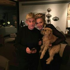 There's nothing quite like puppy (or kitty) love, which is why we rounded up a bunch of adorable photos of celebrities with their cute and cuddly pets. Ellen Degeneres And Portia, Ellen And Portia, Candice Bergen, Portia De Rossi, Kat Dennings, Debby Ryan, Caitriona Balfe, Jessica Chastain, Let Them Talk