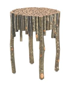 NEW rustic table made of natural hickory to be seen at the October 2013 High Point Market!