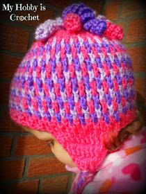 Tri color hat free crochet pattern