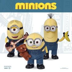 14 different Minions toys featured from Despicable Me, Despicable Me 2 and the new Minions movie created in collaboration with Universal and Illumination. Toys include Minion play-doh sets, minion games like operation, game of life and monopoly. Popular Minion toys include plush Minion toys, collectible minion toys, Mega-Bloks construction sets and even Minions bike helmets, kkckboards and goggles.