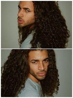 I love his big hair! Natural Hair Men, Natural Man, Natural Hair Styles, Black Men Hairstyles, Haircuts For Men, Cool Hairstyles, Long Curly Hair, Big Hair, Curly Hair Styles