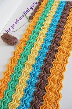 Stitch Crochet, Free Crochet, Crochet Hats, Ravelry, Crochet Baby Mobiles, Crochet Ripple Blanket, Vintage Crochet Patterns, Vintage Fans, Manta Crochet