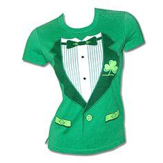 Irish Tux St. Patrick's Day Women's Tee Shirt
