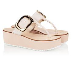 1c36dce46c3 Vicini TAV Beige suede T-strap flat wedge sandals