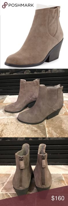 Brand New Eileen Fisher Peer Suede Ankle Booties Super cute!  Brand new!  Zip up in back! Eileen Fisher Shoes Ankle Boots & Booties