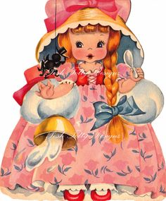 Nostalgic Greetings: Curl up, stay warm, and look at vintage cards! Vintage Birthday Cards, Vintage Greeting Cards, Vintage Valentines, Vintage Postcards, Vintage Pictures, Vintage Images, Old Cards, Vintage Paper Dolls, Antique Dolls