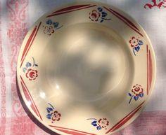 K Luneville beautiful Belle Époque plate, cherry blossom and rose design