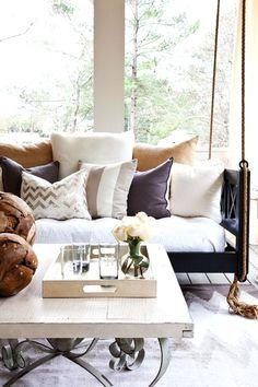 I love piles of throw pillows