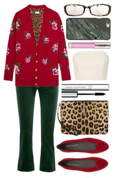 """""""almost xmas"""" by foundlostme ❤ liked on Polyvore featuring Stuart Weitzman, MM6 Maison Margiela, Magda Butrym, Yves Saint Laurent, By Terry, Alice + Olivia, CARGO, velvet and xmas"""