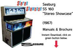 "Seeburg SS 160 ""Stereo Showcase"" (1967) Manuals & Brochure Includes Parts & Service Manual  Jukebox Manual available $20 Download at jukeboxmanuals.com"