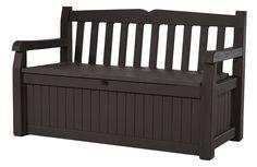 Storage-Garden-BENCH-Brown-70-Gallon-All-Weather-Outdoor-Patio-Deck-Chair-NEW